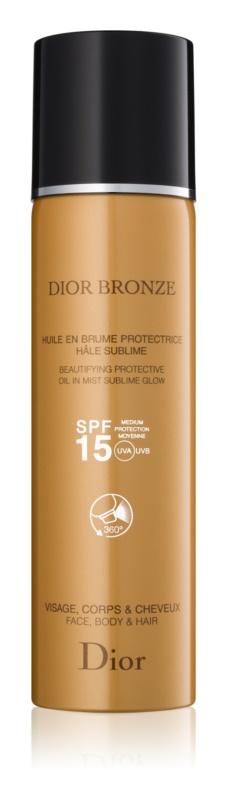 Dior Dior Bronze opaľovací olej na telo a vlasy v spreji