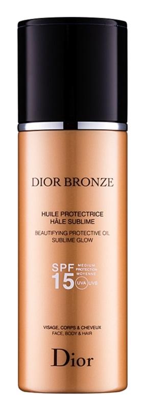 Dior Bronze rozświetlający ochronny olejek do opalania SPF15
