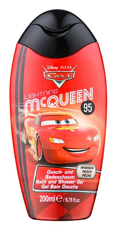 Disney Cosmetics Cars pena do kúpeľa a sprchový gél 2v1