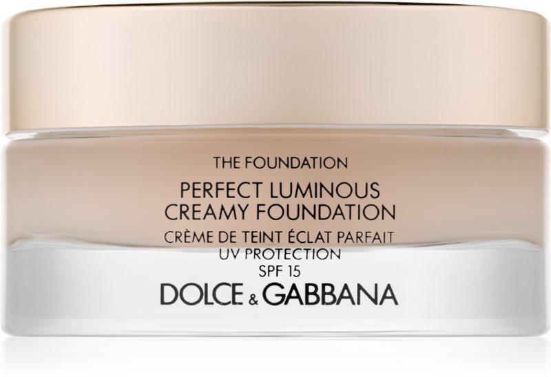 Dolce & Gabbana The Foundation Perfect Luminous Creamy Foundation rozjasňující krémový make-up SPF 15