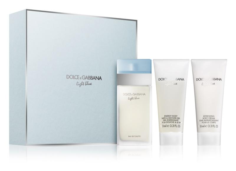 6a32bb1b5d283f Dolce   Gabbana Light Blue coffret cadeau VI. eau de toilette 100 ml ...