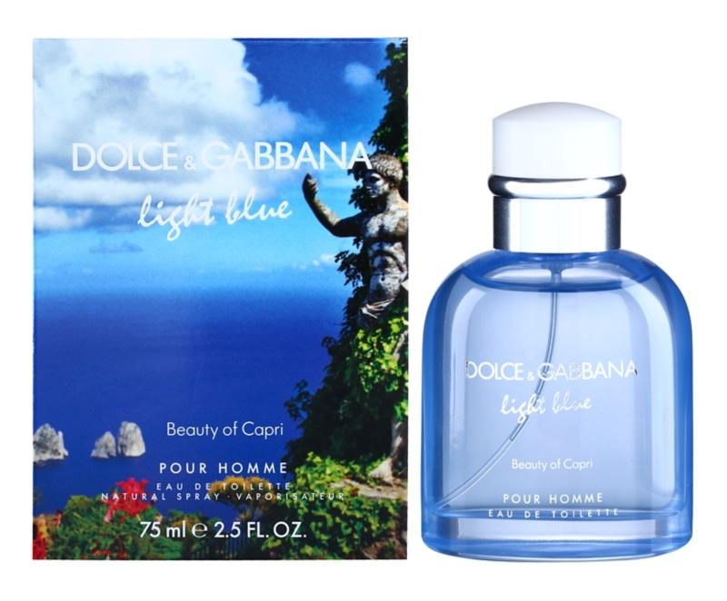 Dolce & Gabbana Light Blue Beauty of Capri Eau de Toilette para homens 75 ml