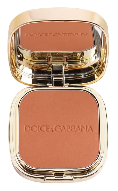 Dolce & Gabbana The Foundation Perfect Matte Powder Foundation zmatňujúci púdrový make-up so zrkadielkom a aplikátorom