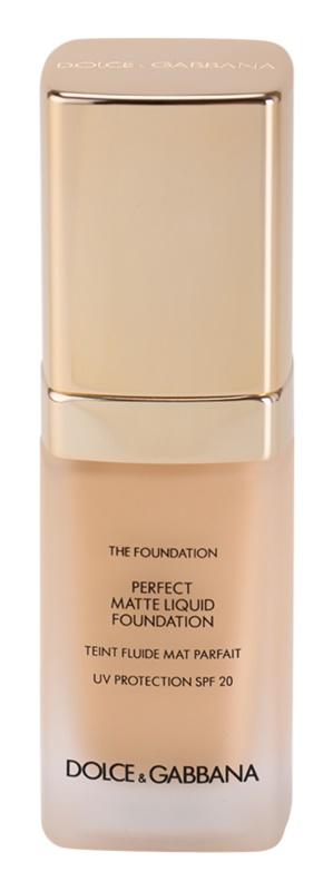 Dolce & Gabbana The Foundation Perfect Matte Liquid Foundation base para aspeto mate