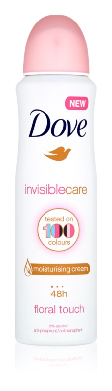 Dove Invisible Care Floral Touch Antitranspirant gegen weiße Flecken ohne Alkohol