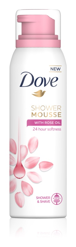 Dove Rose Oil sprchová pena 3v1