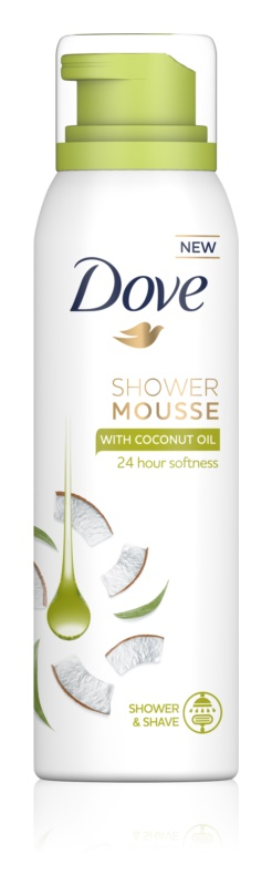 Dove Coconut Oil sprchová pena 3v1