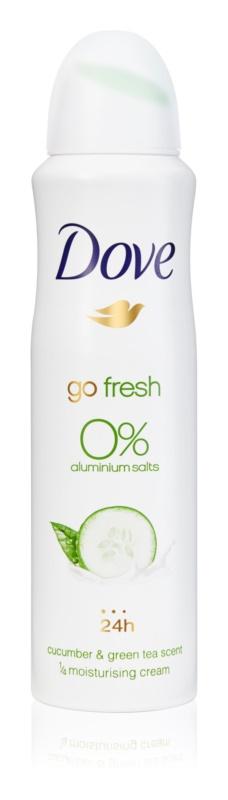 Dove Go Fresh Cucumber & Green Tea dezodorant brez alkohola in vsebnosti aluminija 24 ur