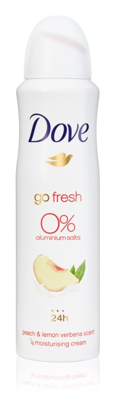 Dove Go Fresh Peach & Lemon Verbena dezodorant v pršilu brez vsebnosti aluminija