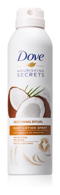 Dove Nourishing Secrets Restoring Ritual losjon za telo v pršilu