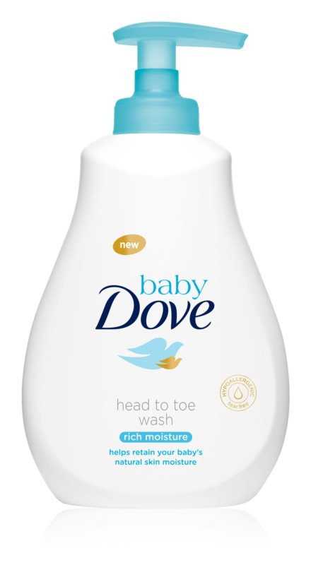 Dove Baby Rich Moisture почистващ гел за тяло и коса