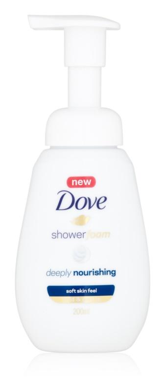 Dove Deeply Nourishing spuma pentru dus cu efect de nutritiv