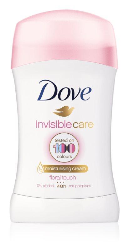 Dove Invisible Care Floral Touch tuhý antiperspirant proti bílým skvrnám bez alkoholu