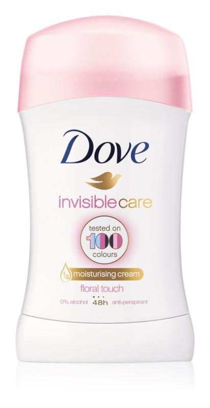 Dove Invisible Care Floral Touch твердий антиперспірант від білих плям без алкоголя