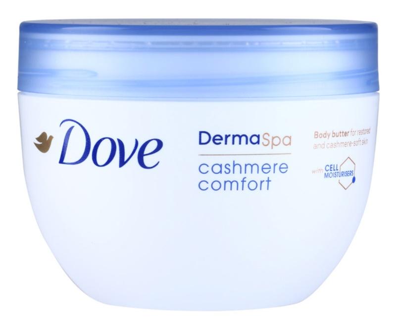 Dove DermaSpa Cashmere Comfort manteca corporal regeneradora  para dejar la piel suave y lisa