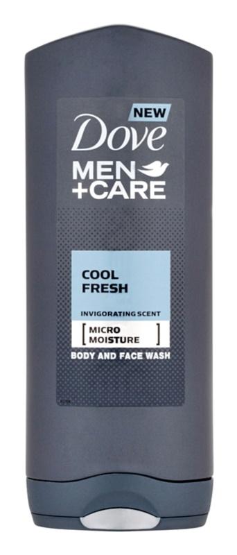 Dove Men+Care Cool Fresh sprchový gel na tělo a obličej