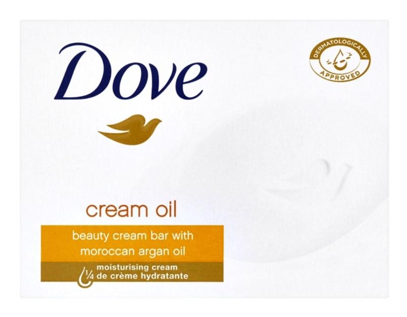 Dove Cream Oil sabonete sólido com óleo de argan