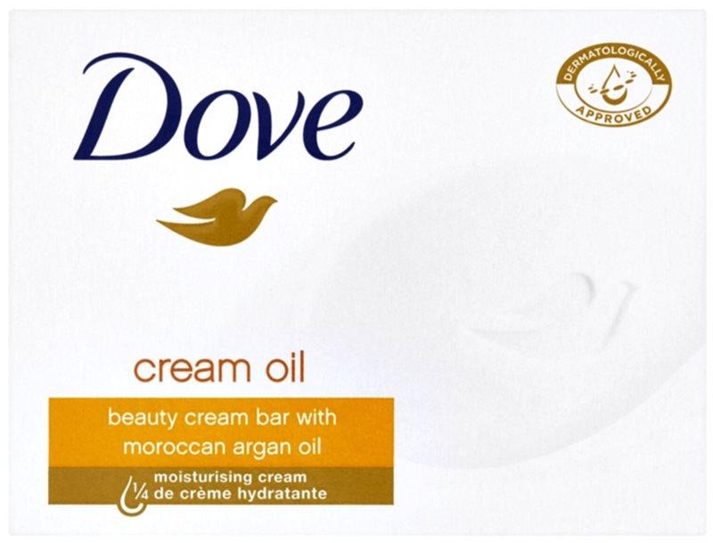 Dove Cream Oil tuhé mydlo s arganovým olejom