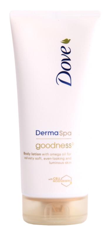 Dove DermaSpa Goodness³ leite corporal para pele fina e lisa