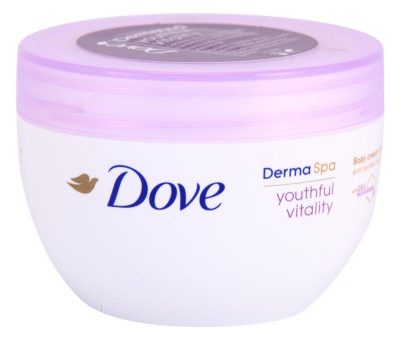Dove DermaSpa Youthful Vitality crème corporelle rajeunissante pour une peau élastique