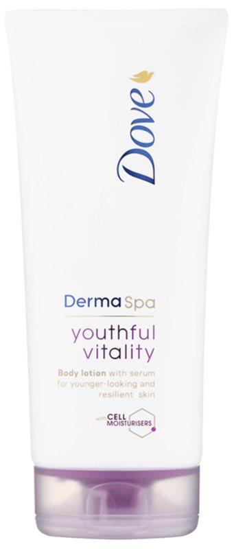 Dove DermaSpa Youthful Vitality leche corporal rejuvenecedora para recuperar la elasticidad de la piel