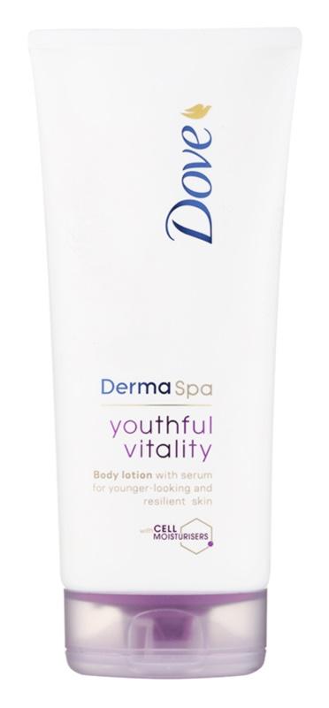 Dove DermaSpa Youthful Vitality loção corporal rejuvenescedora  para peles macias