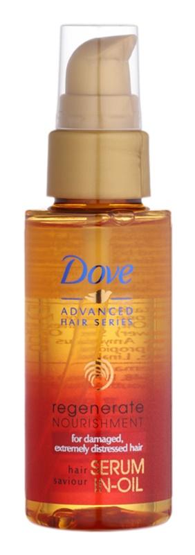 Dove Advanced Hair Series Regenerate Nourishment sérum em óleo regenerador para cabelo muito danificado