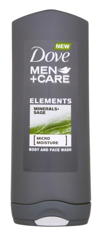 Dove Men+Care Elements gel de banho para o corpo e rosto 2 em 1