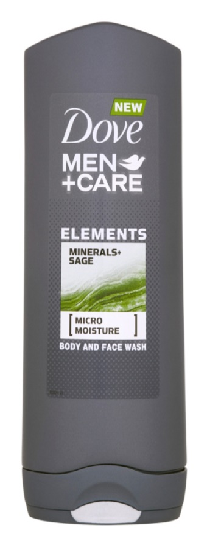Dove Men+Care Elements Gel de duș pentru față și corp 2 in 1