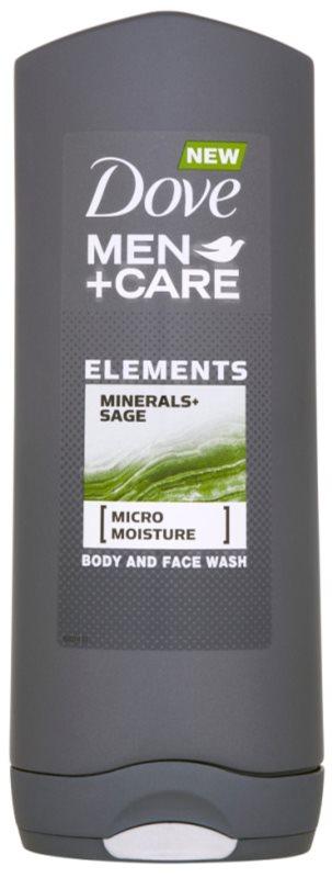 Dove Men+Care Elements sprchový gel na obličej a tělo 2 v 1