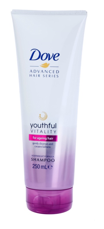 Dove Advanced Hair Series Youthful Vitality Shampoo für strapaziertes Haar ohne Glanz
