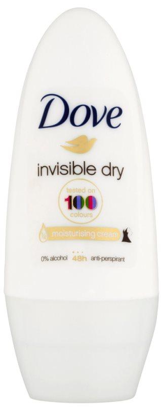 Dove Invisible Dry antitranspirante roll-on contra as manchas brancas 48 h