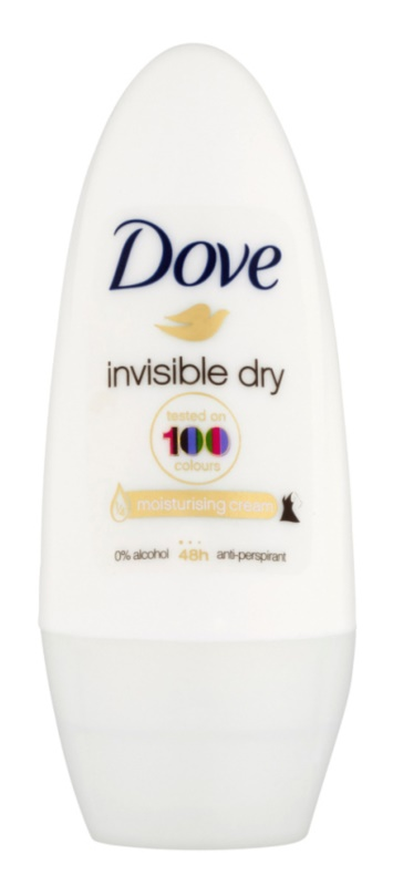 Dove Invisible Dry antitranspirante roll-on contra as manchas brancas 48 h