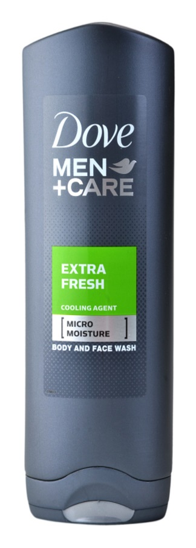 Dove Men+Care Extra Fresh sprchový gel na tělo a obličej