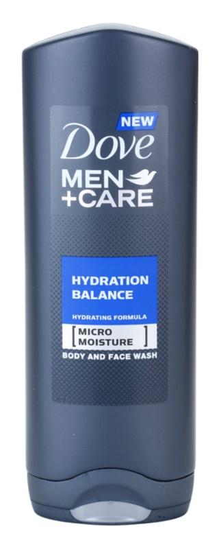 Dove Men+Care Hydration Balance tusfürdő gél testre és hajra uraknak