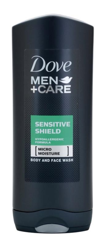 Dove Men+Care Sensitive Shield gel de ducha para rostro y cuerpo