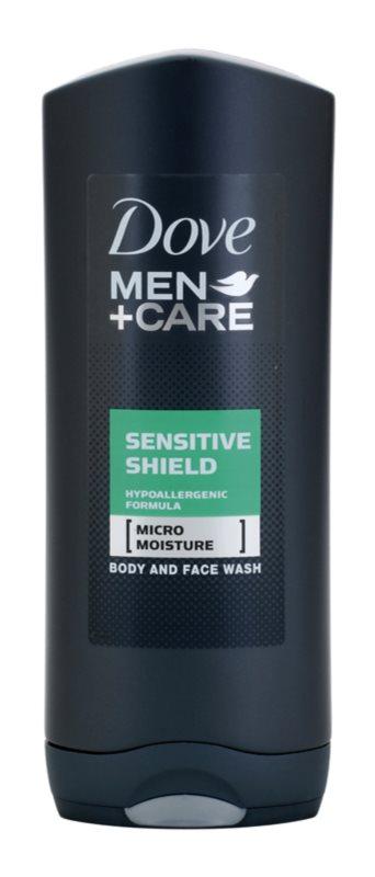 Dove Men+Care Sensitive Shield gel za prhanje za obraz in telo