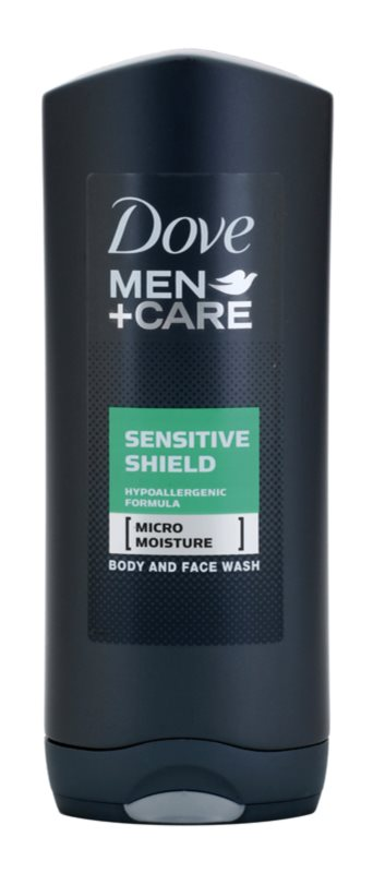 Dove Men+Care Sensitive Shield sprchový gel na obličej a tělo
