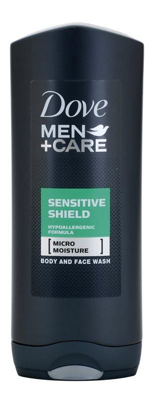 Dove Men+Care Sensitive Shield sprchový gel na obličej a tělo