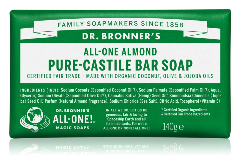 Dr. Bronner's Almond tuhé mydlo