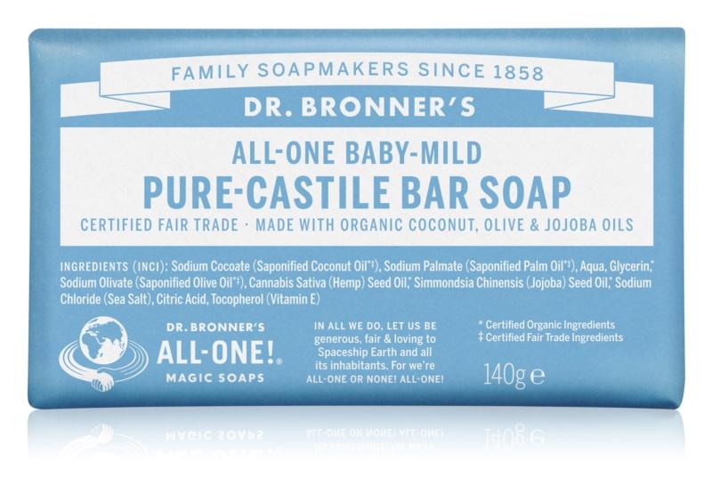 Dr. Bronner's Baby-Mild trdo milo brez dišav
