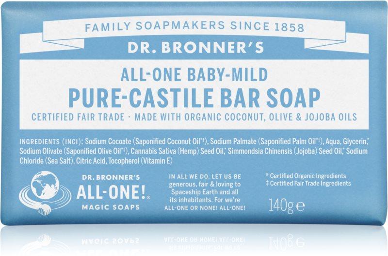 Dr. Bronner's Baby-Mild tuhé mydlo bez parfumácie