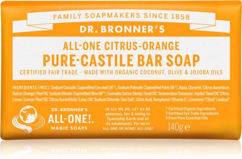 Dr. Bronner's Citrus & Orange tuhé mýdlo