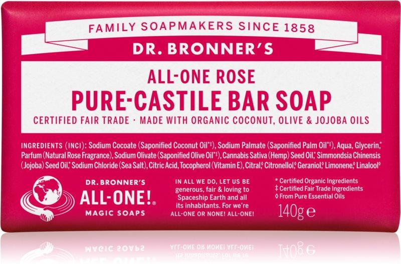 Dr. Bronner's Rose mydło w kostce