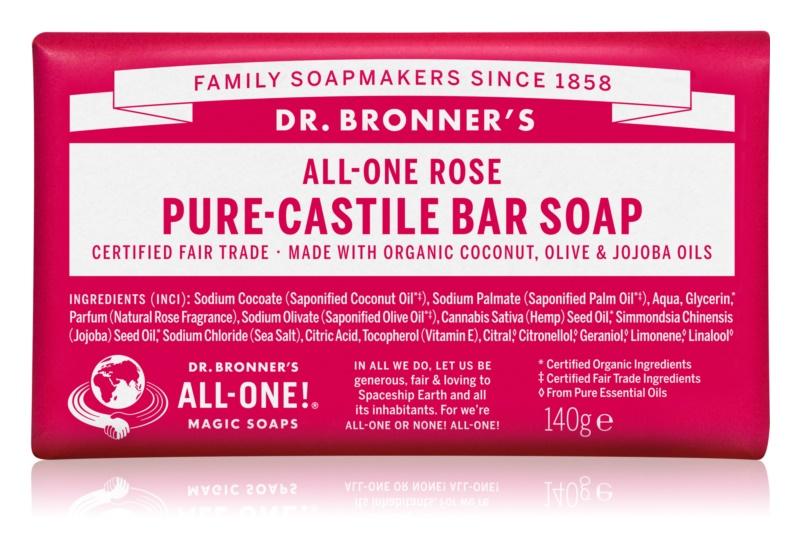 Dr. Bronner's Rose tuhé mydlo