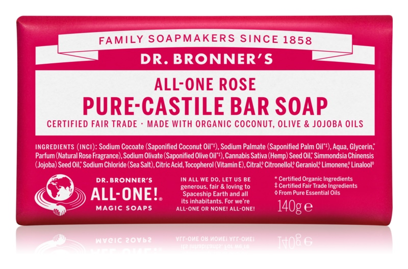 Dr. Bronner's Rose туалетне мило