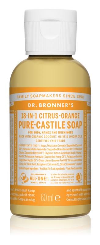 Dr. Bronner's Citrus & Orange săpun lichid universal