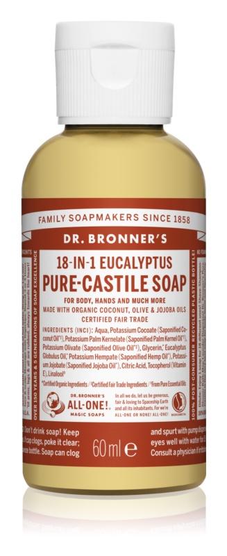 Dr. Bronner's Eucalyptus tekuté univerzálne mydlo