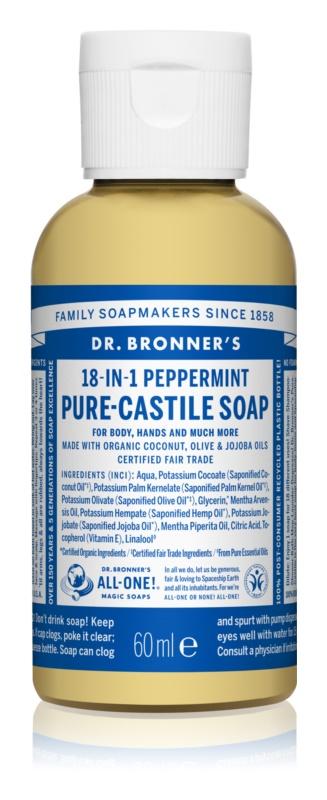 Dr. Bronner's Peppermint рідке універсальне мило