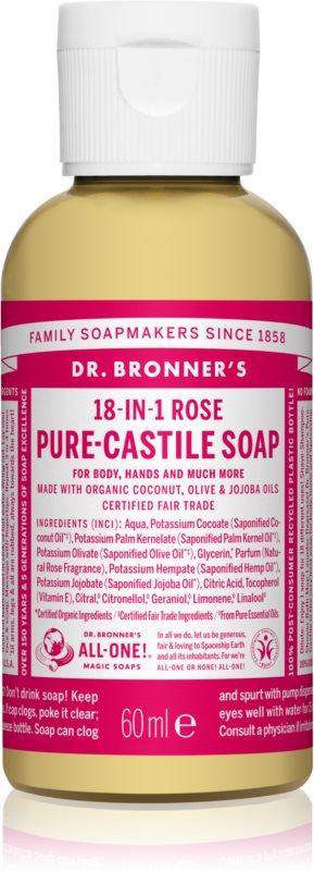 Dr. Bronner's Rose tekuté univerzální mýdlo
